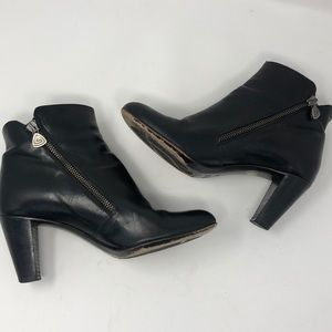 AGL Zippered Leather Booties